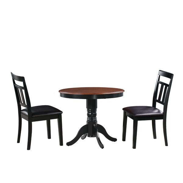 Dahle 3 Piece Solid Wood Dining Set by August Grove August Grove