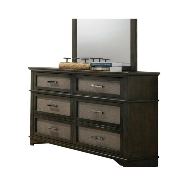 Behrendt 6 Drawer Double Dresser by House of Hampton