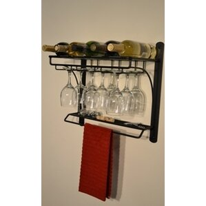Burtondale 5 Bottle Wall Mounted Wine Rack by Red Barrel Studio