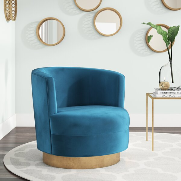 Langridge Swivel Barrel Chair by Mercer41 Mercer41