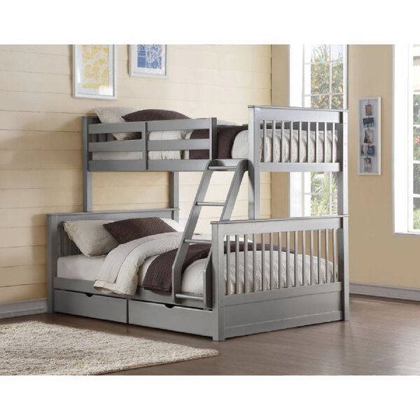 Ammarah II Twin over Twin Bunk Bed with 2 Drawers by Harriet Bee