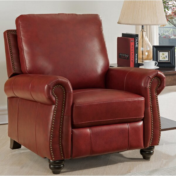 Adriano Leather Manual Recliner By Darby Home Co