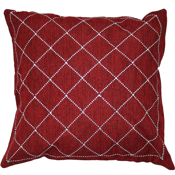 Rhinestone Criss-Cross Throw Pillow by Sparkles Home