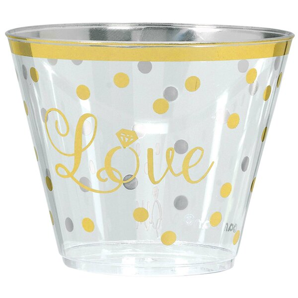 Sparkling Wedding Plastic Disposable Cup (Set of 30) by Amscan