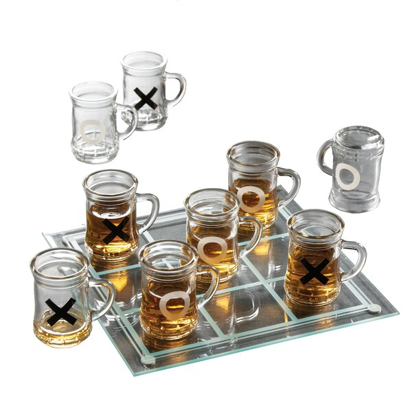 Schoenberg 10 Piece Shot Glass Set by Red Barrel Studio