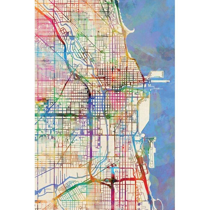 'Urban Rainbow Street Map Series: Chicago, Illinois, USA' Graphic Art on chicago illinois map, chicago zip code map, chicago cta map, chicago neighborhood map, airport chicago il map, chicago topographic map, chicago map usa with states, chicago map outline, chicago crime map, chicago on google maps, chicago united states map, chicago university on map, chicago on north america map, chicago loop map, lake michigan chicago map, chicago on world map, chicago street map, chicago on illinois,