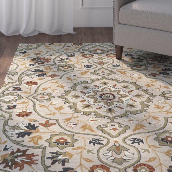 Lyndora Handmade Wool Oriental Area Rug by Three Posts