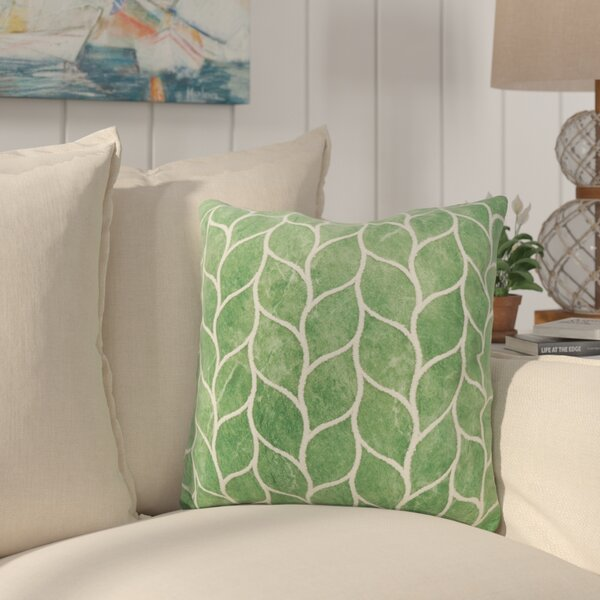 Millstone Embroidered Leaf Down Filled Throw Pillow by Bay Isle Home