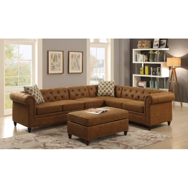 Larue Sectional with Ottoman by Three Posts