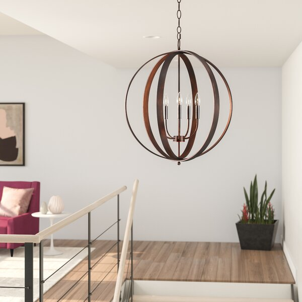 Mielke 5-Light Candle Style Globe Chandelier by Wrought Studio Wrought Studio