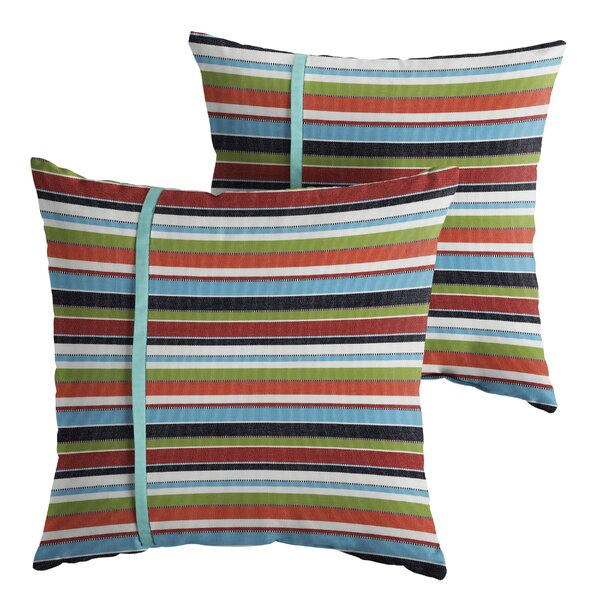 Anglesey Indoor/Outdoor Throw Pillow (Set of 2) by Longshore Tides