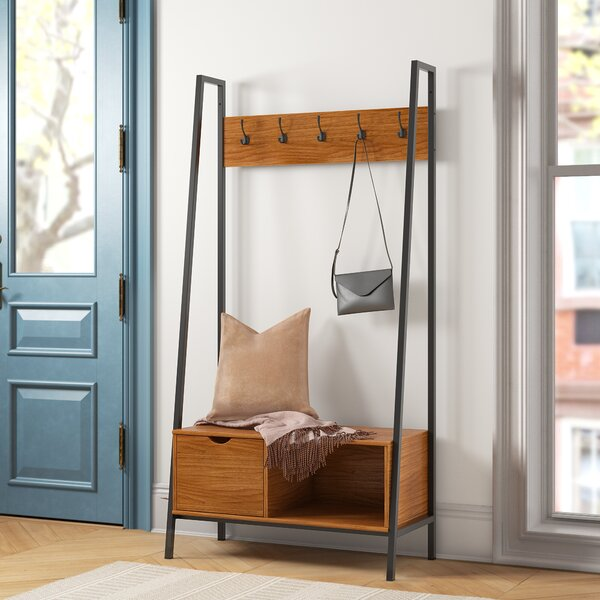Devin Hall Tree with Bench and Shoe Storage