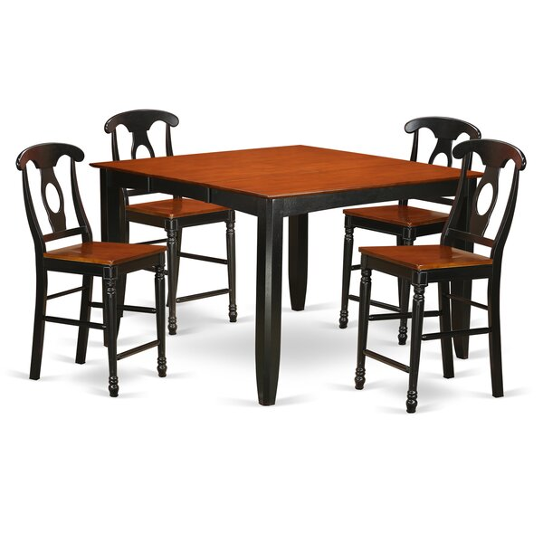 Tamarack 5 Piece Counter Height Pub Table Set by Red Barrel Studio