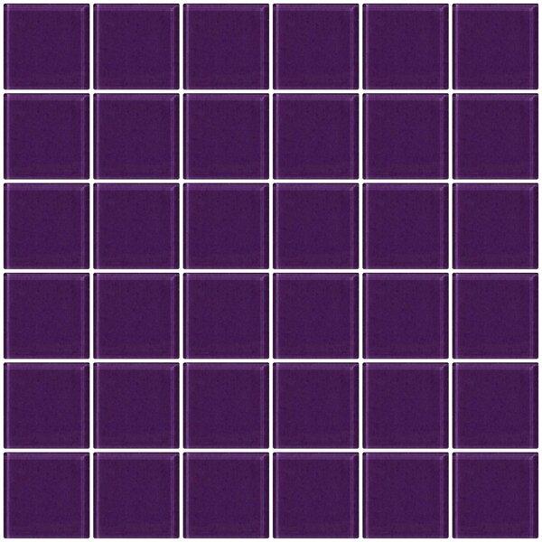 Bijou 22 2 x 2 Glass Mosaic Tile in Lavender Purple by Susan Jablon