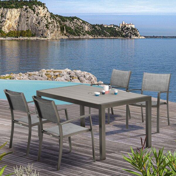 Alp Outdoor 5 Piece Dining Set