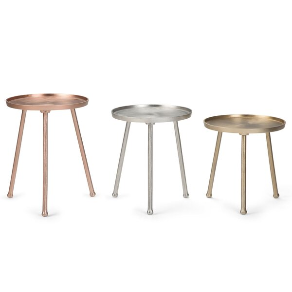 Demario 3 Piece Nesting Tables by Bungalow Rose
