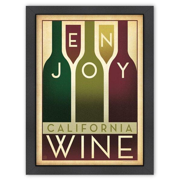 Enjoy Wine Framed Vintage Advertisement by East Urban Home