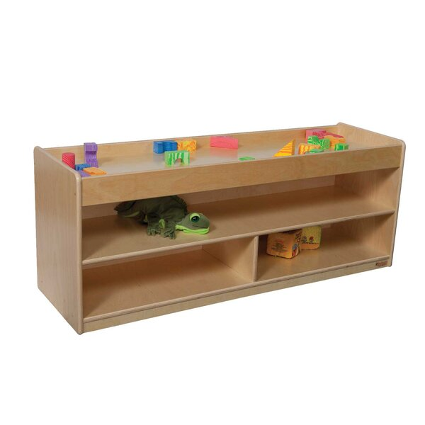 Pull Up 4 Compartment Shelving Unit by Wood Designs