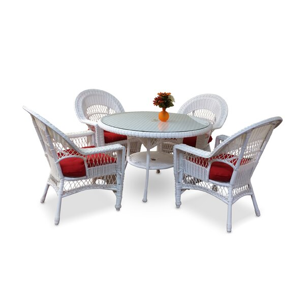 Camacho 5 Piece Dining Set with Cushions by August Grove