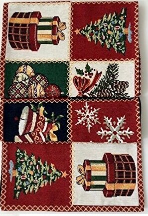Holiday Tapestry Christmas Patchwork Runner by The Holiday Aisle
