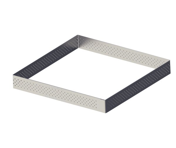 Straight Edge Perforated Stainless Steel Tart by De Buyer