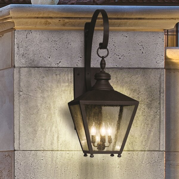 Sybil 3-Light Outdoor Wall Lantern by Darby Home Co