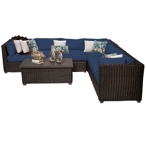 Fairfield 7 Piece Rattan Sectional Seating Group With Cushions By Sol 72 Outdoor by Sol 72 Outdoor Best Design