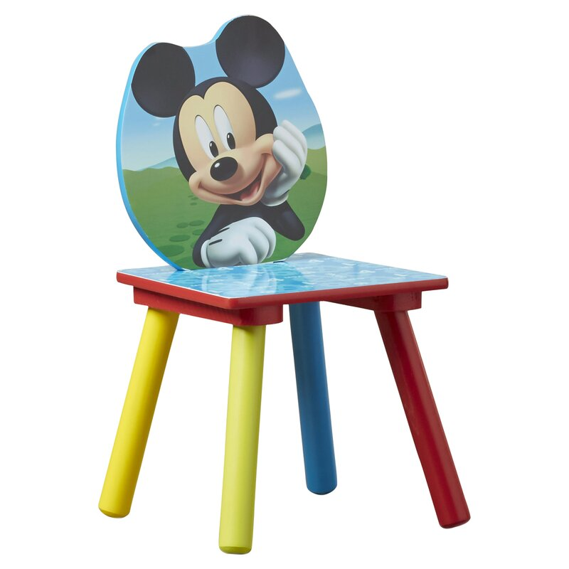 Mickey Mouse Kids 3 Piece Table And Chair Set