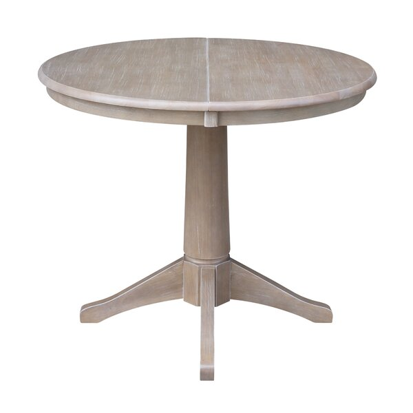 Cochrane Extension Pedestal Solid Wood Dining Table by Ophelia & Co.