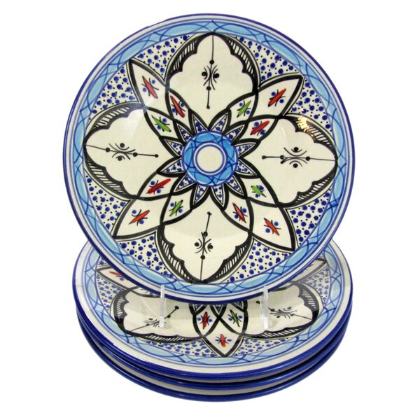 Tibarine 11 Stoneware Dinner Plate (Set of 4) by Le Souk Ceramique