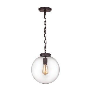Price comparison Manzo 1-Light Globe Pendant By Brayden Studio