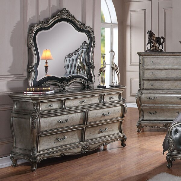 Casanovia 7 Drawer Dresser with Mirror by Rosdorf Park Rosdorf Park