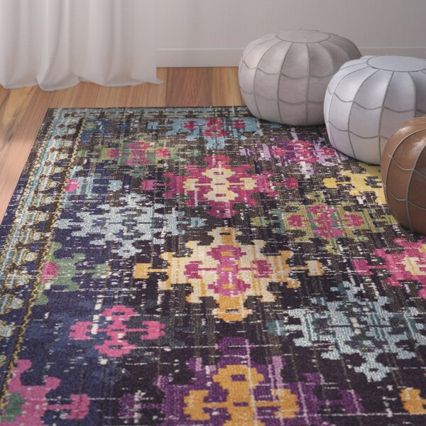 Crosier Green/Pink Area Rug by Bungalow Rose
