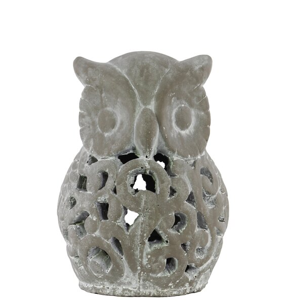 Cement Owl Figurine by Urban Trends