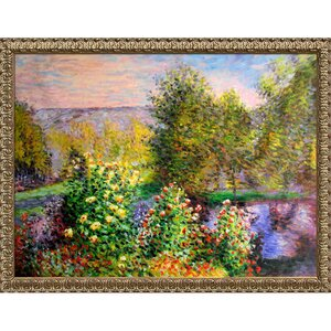 Corner of the Garden at Montgeron' by Claude Monet Framed Painting by Tori Home