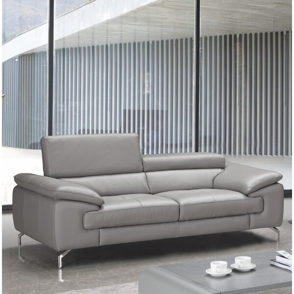 Trendy Mayer Leather Sofa by Orren Ellis by Orren Ellis