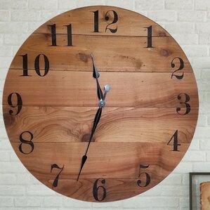 Handmade Wooden Design Oversized Wall Clock