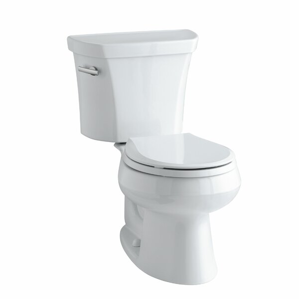 Wellworth Two-Piece Round-Front 1.28 GPF Toilet with Class Five Flush Technology, Left-Hand Trip Lever and Tank Cover Locks by Kohler