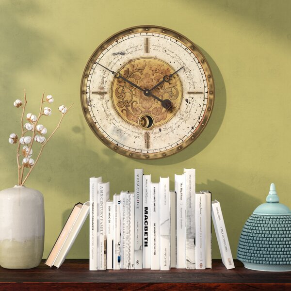 Skelton 18 Script Weathered Wall Clock by World Menagerie