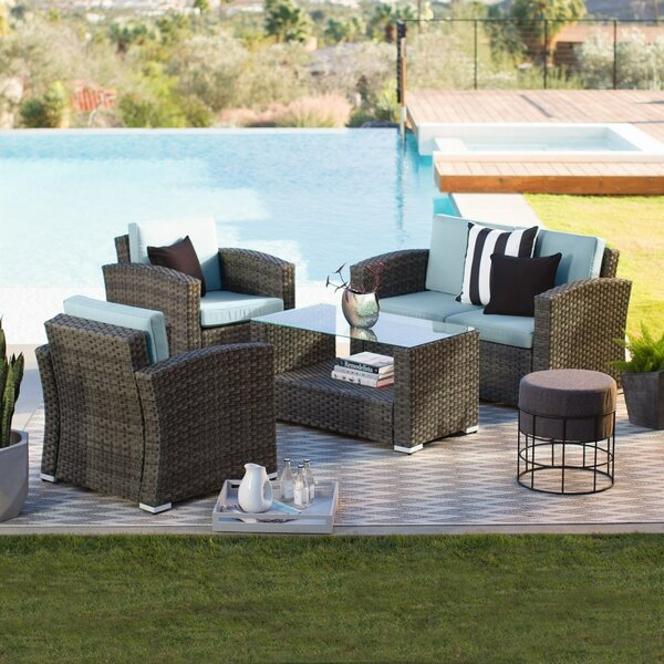 Celestia 4 Piece Sofa Seating Group with Cushions by Orren Ellis