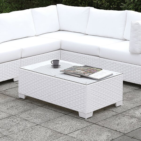 Kuhn Glass Coffee Table by Rosecliff Heights