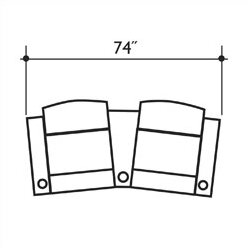Signature Series Milan Home Theater Row Seating  (Row Of 2) By Bass