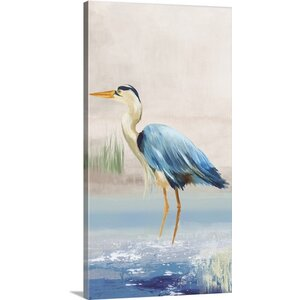 'Heron on the Beach II' by Aimee Wilson Painting Print on Canvas by Great Big Canvas