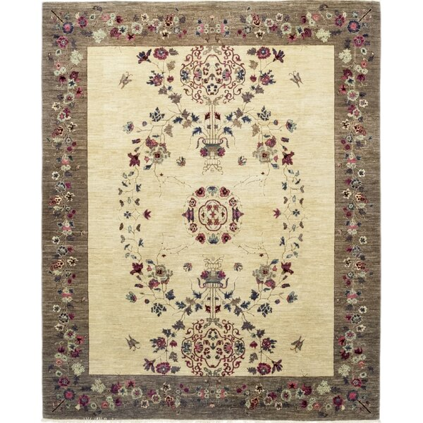 One-of-a-Kind Heilman Hand-Knotted Wool Beige Indoor Area Rug by Bloomsbury Market