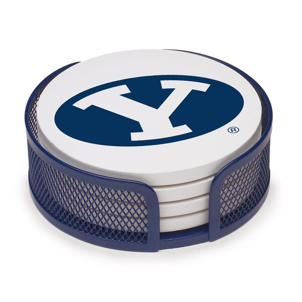 5 Piece Brigham Young University Collegiate Coaster Gift Set by Thirstystone