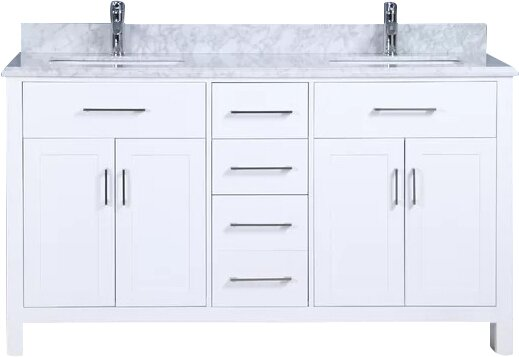 Prestwick 60 Double Bathroom Vanity Set by Breakwater Bay