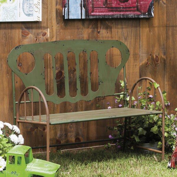 Fairway Re-Purposed Metal Truck Park Bench by 17 Stories