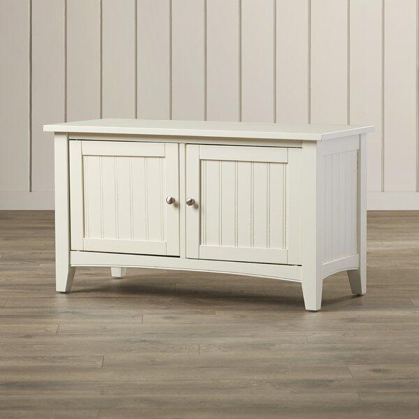 Bel Air Wood Storage Bench by Three Posts