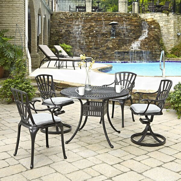Frontenac 5 Piece Dining Set with Cushion by Astoria Grand