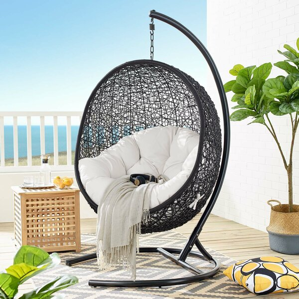 Wisser Outdoor Patio Swing Chair with Stand by Bayou Breeze